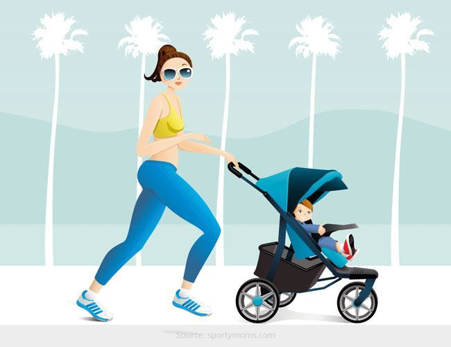 Be a Super Mom - Get in Shape by Using Your Baby's Pram