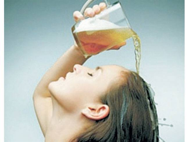 Beer as a hair rinse
