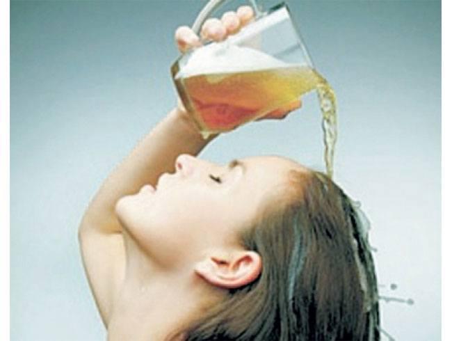 Beer as a hair rinse