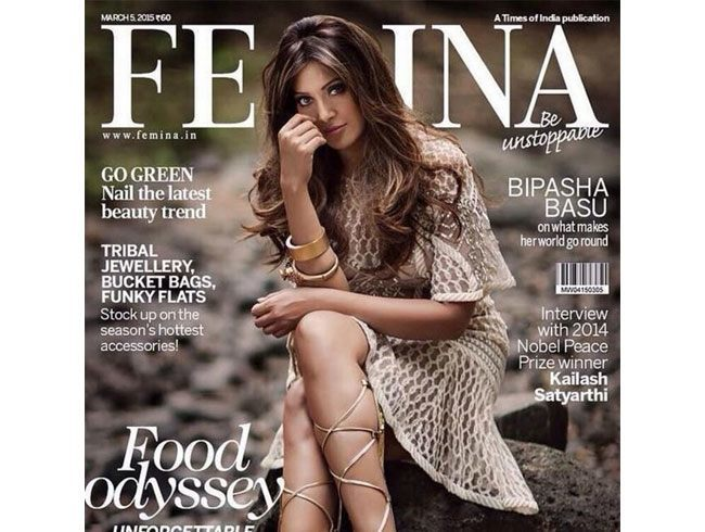 Bipasha Basu on Femina cover