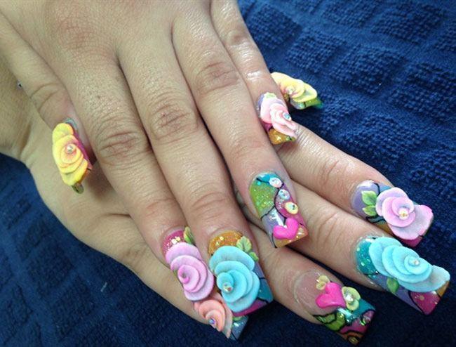 Pretty Flower Nail Art Designs