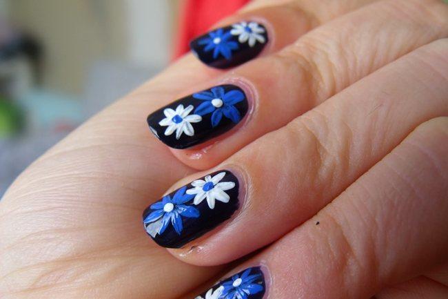 Cool Floral Blue