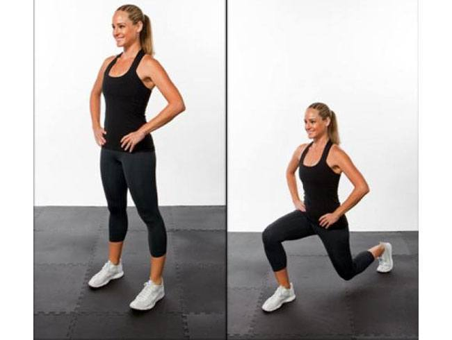 Exercise for a Sexy Butt 4 Reverse lunges