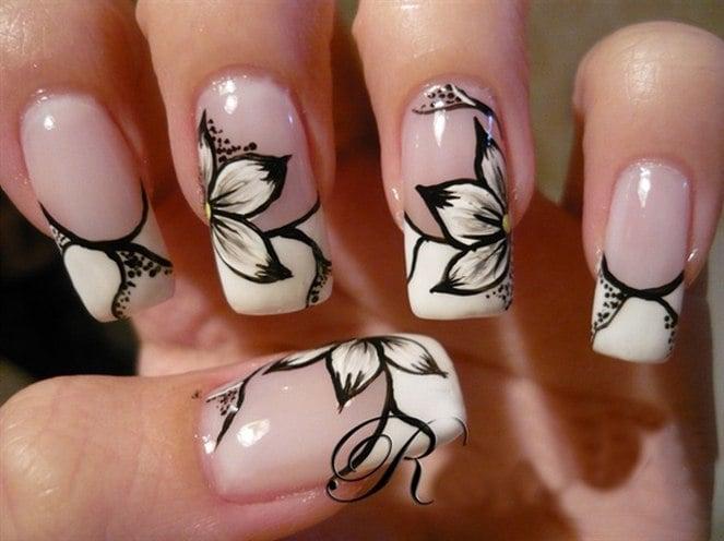 Flower nailart