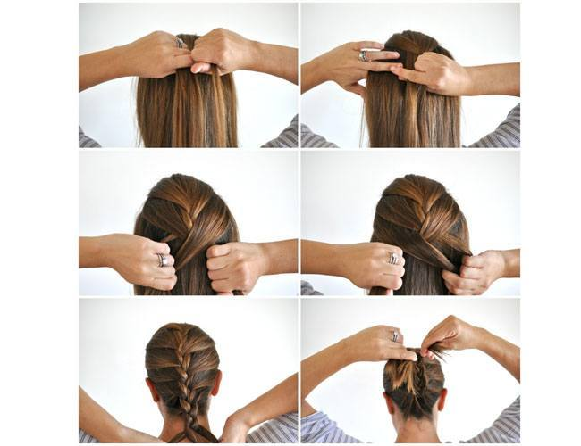 3. French-braid your slightly wet hair