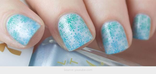 Gradient Stamping Nails: Tutorial für Anfänger