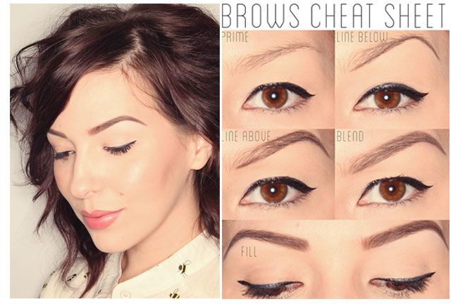 Here's step by step eyebrow makeup tutorial