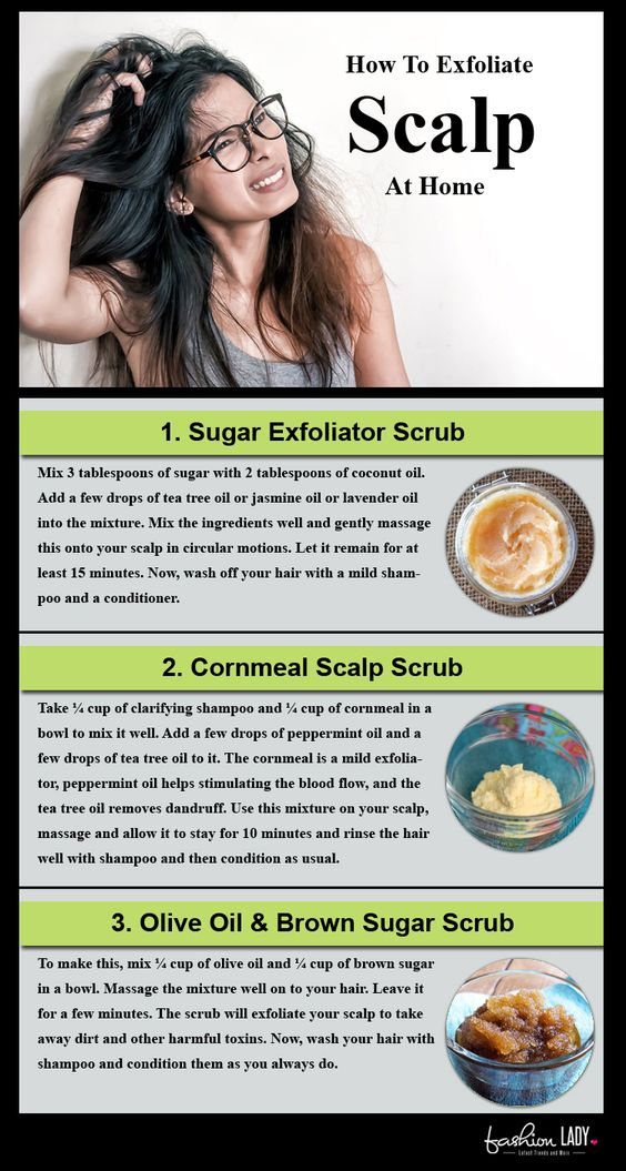How To Exfoliate Your Scalp At Home