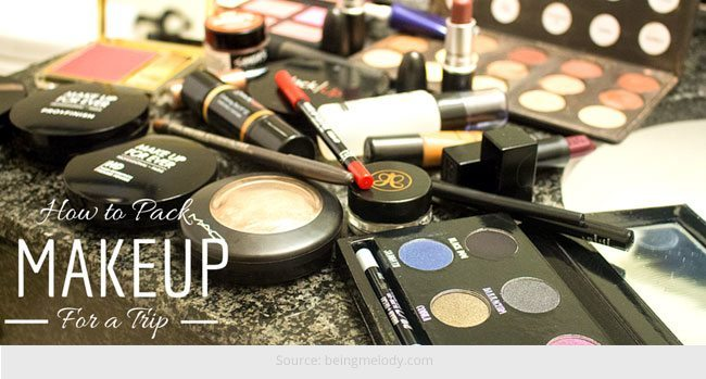 How to Pack Makeup while Travelling