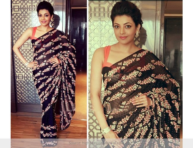 Kajal Aggarwal Showing Us How to Look Sexy In a Saree