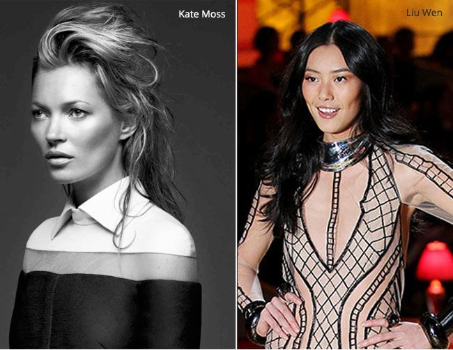 Kate Moss and lui wen
