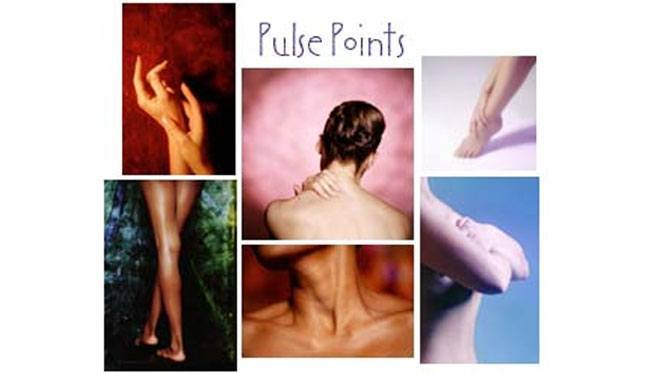 Keep a track of target pulse points when applying perfume