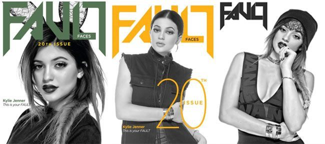 Kylie Jenner on Fault cover