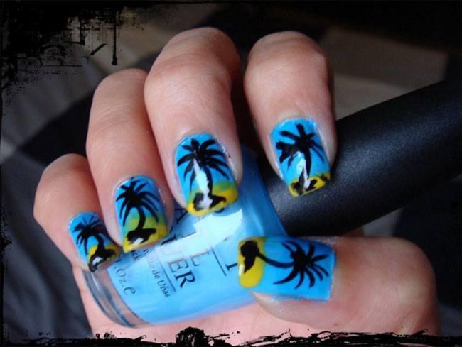 Palm Nail Art