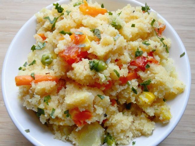 Semolina with Vegetables