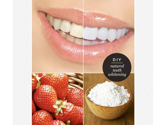 Strawberry bleach mask for teeth