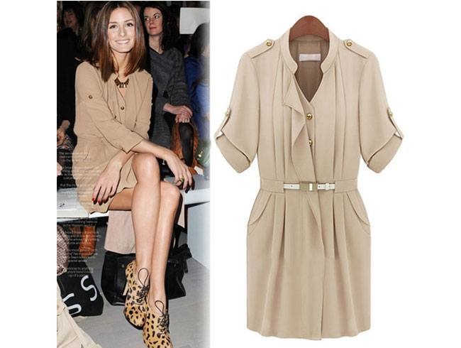 The Beige Shirt Dress