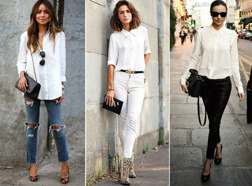 How To Wear An Oversized White Blouse 42