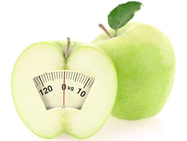 Weight loss with apple scale