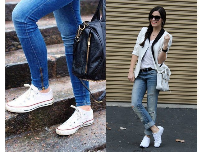 What to wear with white sneakers
