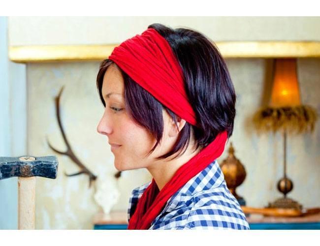 bandana for short hair