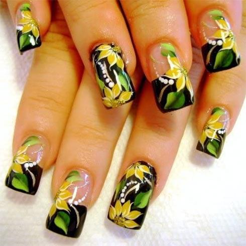 flower nail art designs gallery