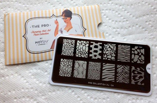 gradient stamping nail art