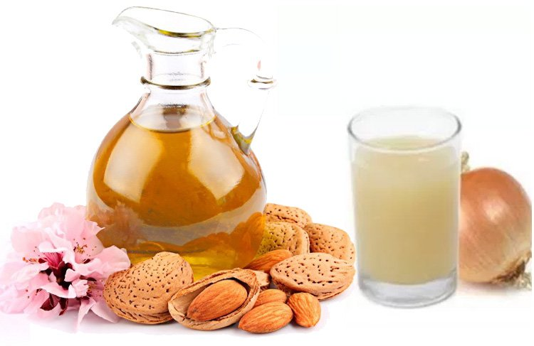 Onion Juice and Almond Oil