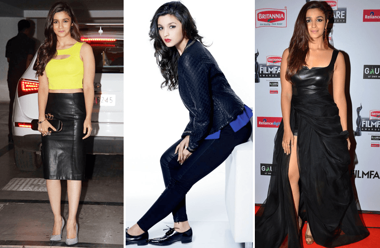 Alia Bhatt in Leather