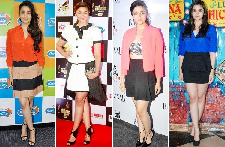 Alia Bhatt in Shorts & Skirts