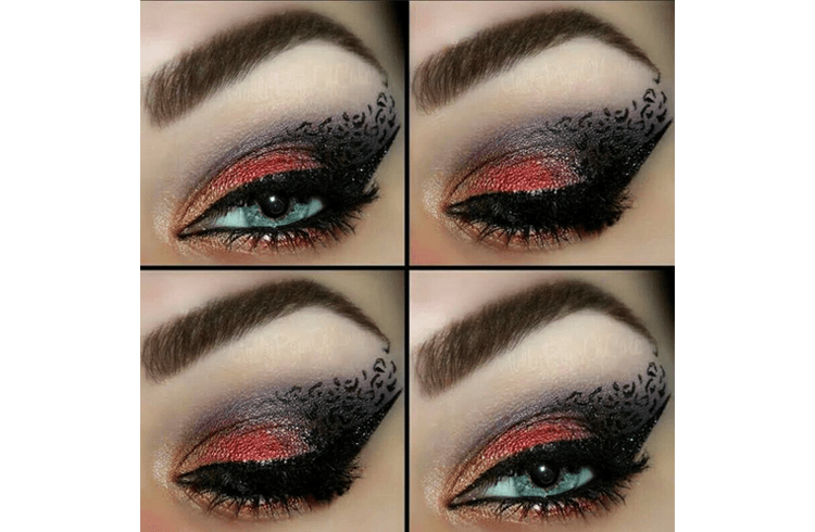 Animal Print Eye Makeup (1)