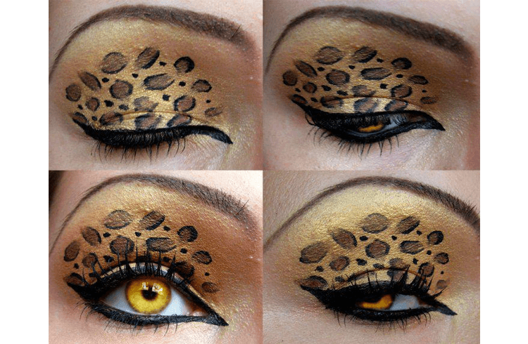 Animal Print Eye Makeup Add A Touch Of Wildness