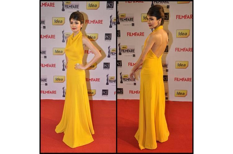 Anushka Sharma Victoria Beckham full length gown