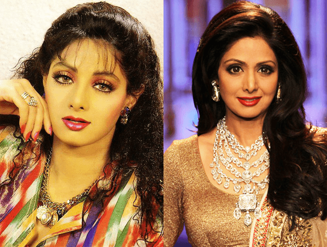 Bollywood Star Sridevi  Then And Now