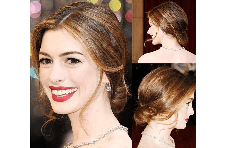 Celebrity Anne Hathaway Hairstyle