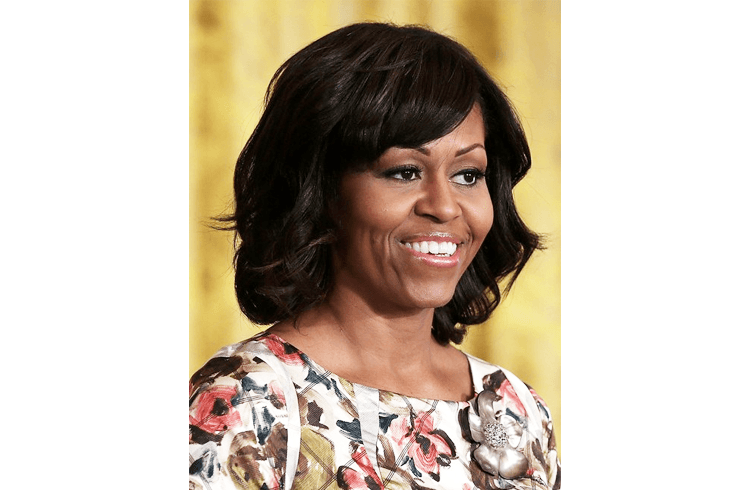 Celebrity Michelle Obama Hairstyle