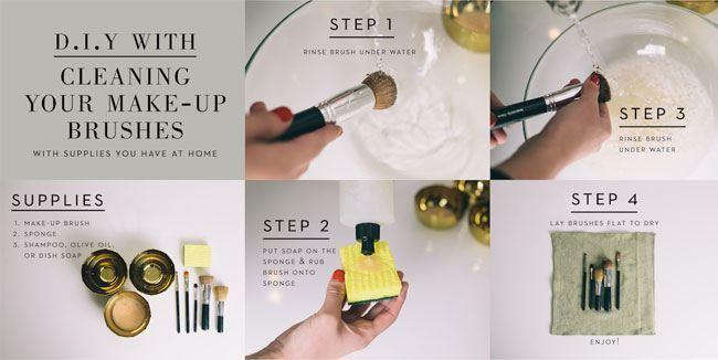 Warum und wie Make-up Pinsel zu reinigen?