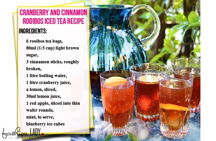 Cranberry and Cinnamon Rooibos Iced Tea Recipe