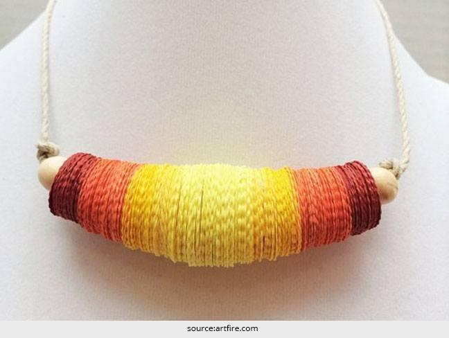 DIY - Herstellung von Halsketten aus Papier
