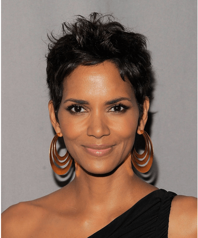 Earrings for celebrities with short hair