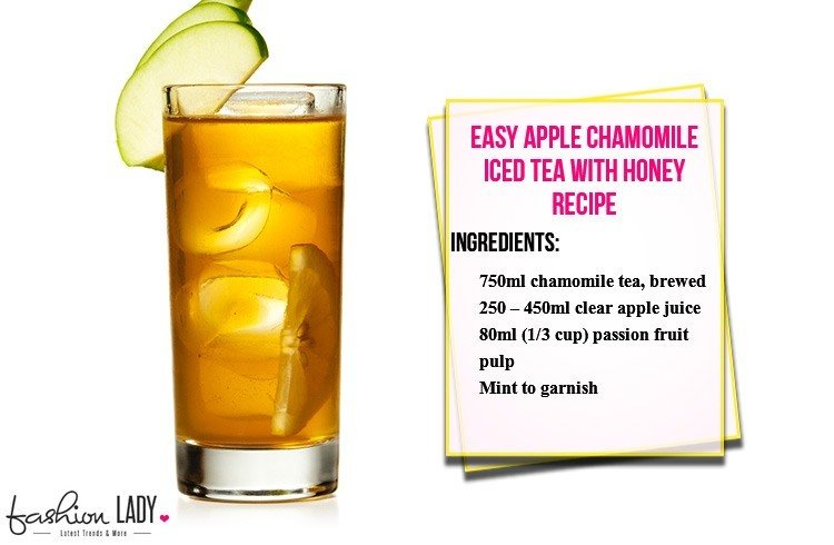 Easy Apple Chamomile Iced Tea with Honey Recipe