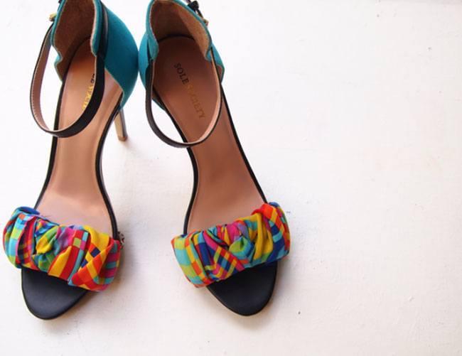 Fabric Wrap Sandal