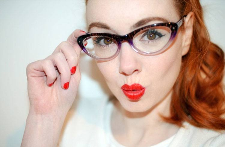 frame your eyes with cat eye glasses