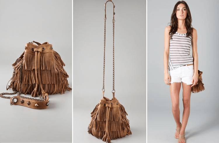 Fringed Leather Bag in Summer Fashion