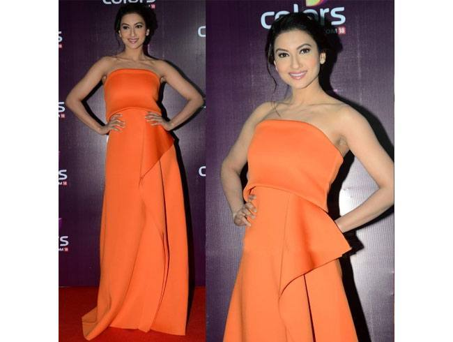 Gauahar Khan At Colours TV Annual Party 2015