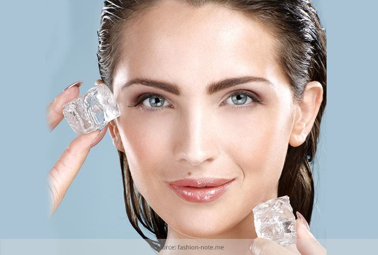 Glowing Skin With Different Ice Cubes