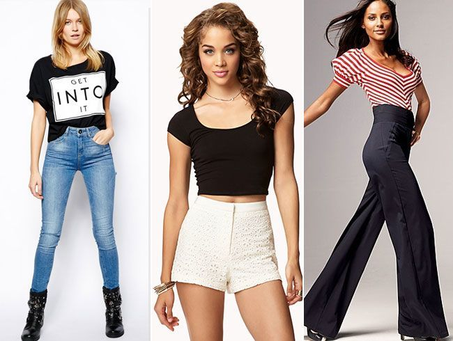 High Waist jeans-shorts-trousers