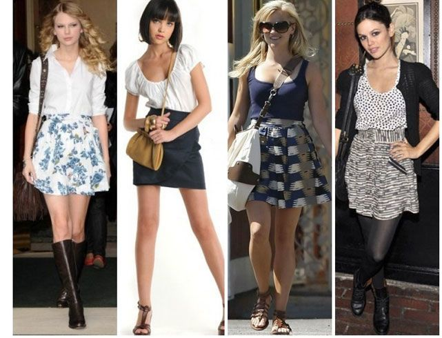 High waisted shorts and skirts or dress pants