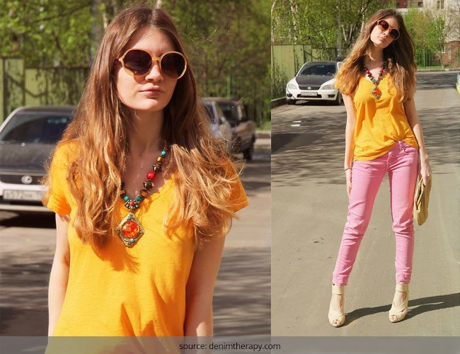 How to Wear Pink Denims Get your Spring Look On