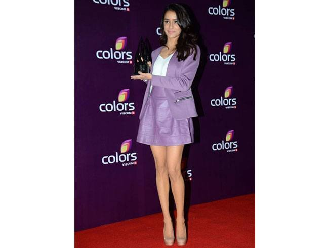 Shraddha Kapoor At Colours TV Annual Party 2015